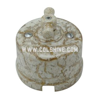 Ceramic rotary light switch