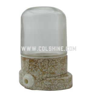 IP54 E27 waterproof porcelain lampholder in marble color
