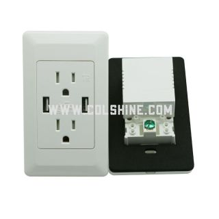15A TR receptacle with USB charger 4.2A