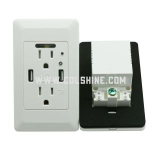 TR Duplex Receptacle outlet 15A  with 2USB 4.2A and led indicator