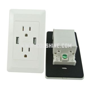 receptacle outlet with 2 usb charging ports 2.1A