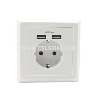 schuko electrical socket with USB