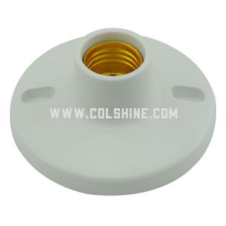 "Socket E27 4 1/2"" white"