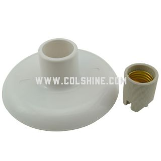 Plastic wall light with porcelain socket E27