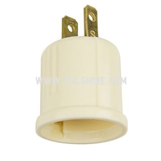 660-Watt Ivory Medium Light Socket Adapter