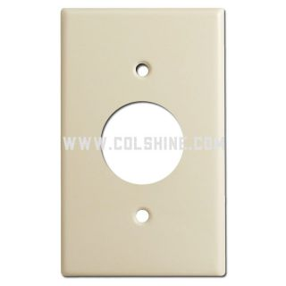 single round outlet cover plate, ivory