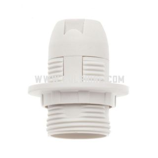 E14 plastic lamp holder with a ring