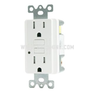 15A Commercial Environments GFCI Receptacle, White; Tamper Resistant