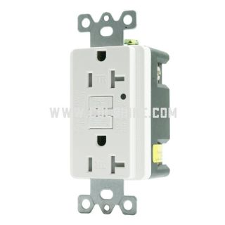 20A GFCI TAMPER-RESISTANT RECEPTACLE WITH LED INDICATOR