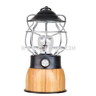 Dimmable led bamboo lantern with power bank 5000mAh