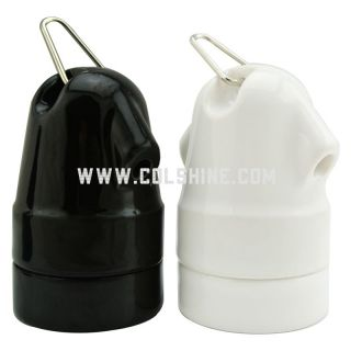Twin entry E27 ceramic lampholder